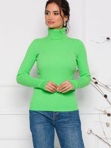 Maleta Gia verde cu guler si textura reiata
